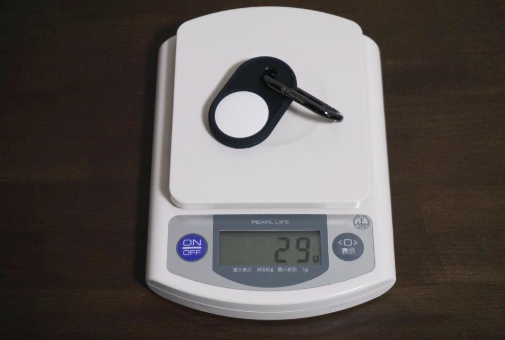 重さは29グラム